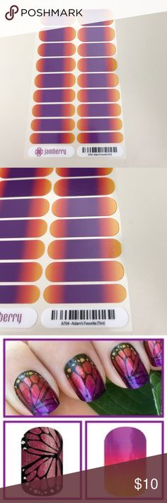 Jamberry adams favorite tint nail wrap This is a tinted wrap -- it's partly see through. Looks great over butterfly wraps. Jamberry Other