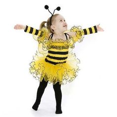 Amazon.com: Yellow Black Bumble Bee Halloween Costume Baby Toddler Girls 18M-4: Princess Paradise: Clothing
