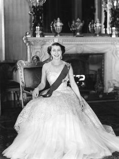 The first portrait - how beautiful is this portrait of Her Majesty Queen Elizabeth II in Buckingham Palace after her Coronation 60 years ago?