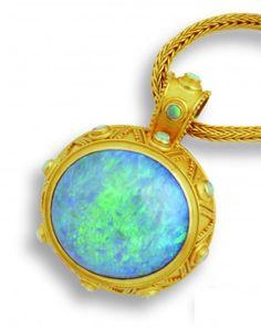 Opal pendant by Carolyn Tyler