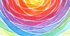 rainbow acrylic and watercolor by Liliia Rudchenko on @creativemarket