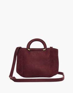3ef4d381e58bad The Top-Handle Mini Bag in dark cabernet image 1 Mini Bag, Madewell,