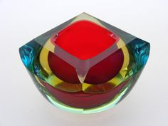 "Murano sommerso glass bowl. ""Repinned by Keva xo""."