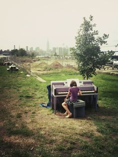 Playing piano in Brooklyn!
