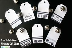 Holiday Gift Tag Printables | TodaysCreativeBlog.net