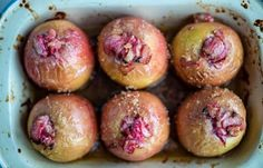 Baked Apples With Rhubarb Recipe - Kids Recipes - Great British Chefs Apple Recipes, Low Carb Recipes, Cake Recipes, Dessert Recipes, Top Recipes, Fruit Recipes, Yummy Recipes, Vegan Recipes, Rhubarb Dishes