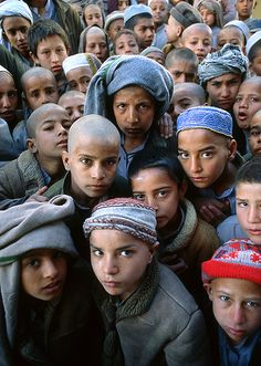 When we help others we make the kind of difference that can affect generations. (Orphans in Afghanistan)
