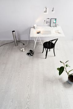 Elegant and graphic, inspired by the fashion and design. Oak Industrial TITAN, brushed matt lacquered leaves space for creativity. Parquet Flooring, Wooden Flooring, Floors, Grey Wooden Floor, Home Office, Office Desk, Living Area, Dining Table, Industrial