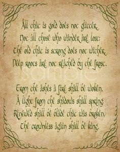 Riddle of Strider Print - 11x14 - Not All Who Wander Are Lost Lord of the Rings…