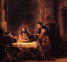 religious paintings by famous artist | Christ at Emmaus by Rembrandt