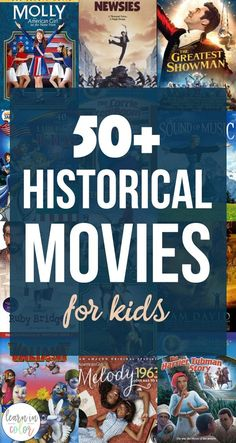 50 historical movies for kids teach history and homeschool history with these fun movies for kids! Art Challenge, Dc Movies, Funny Kids Movies, Good Movies For Kids, Netflix Family Movies, Films For Children, Watch Movies, History For Kids, Teaching History