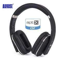 August EP650 Bluetooth Wireless Headphones Over Ear Stereo Headphone with Microphone/NFC/3.5mm Audio In aptX Headset for TVPC (32648039975)  SEE MORE  #SuperDeals