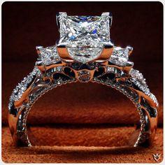 The Goddess Ring. Brilliant perfection is Venetian-5013P.  #extraordinary #love #Verragio