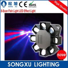 online shopping 8 led scan fish disco effect scan lighting dj stage equipment