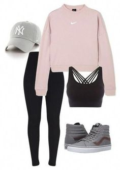 Sporty outfits: Description looks. - Looks Fashion - . - Summer fashion ideasSporty outfits: Description looks. - Looks Fashion - ., 14 sporty outfits for teenagers Hipster Outfits For Teens, Cute Teen Outfits, Teen Fashion Outfits, Mode Outfits, Fashion Ideas, Fashion Styles, Lazy Day Outfits For School, Grunge Outfits, Fashion Trends