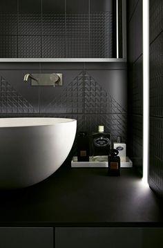 Double-fired ceramic wall tiles TEKNE By Ceramica Bardelli design Daniele Bedini Modern Bathroom Decor, Bathroom Styling, Bathroom Furniture, Bathroom Interior, Small Bathroom, Bathroom Taps, Bad Styling, Washbasin Design, Wall Tiles Design