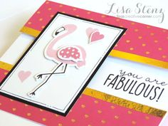 Lisa's Creative Corner: Tickled Pink Flamingo Card