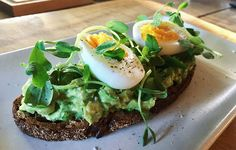 Start your morning off with this nutritious (and yes, trendy) avocado toast packed with fiber and protein.