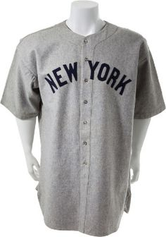 A 1935 New York Yankees jersey, intended for the use of Babe Ruth but never worn, has broken the record for an unworn sports uniform at Heritage Auctions.