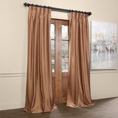 Mercer41™ Vintage Dupioni Solid Blackout Thermal Pinch Pleat Single Curtain Panel & Reviews | Wayfair