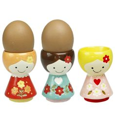 Ceramic Egg Cup Doll Hand painted ceramic egg cups. $8.00