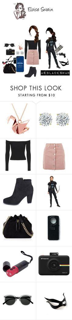 """Eloise Swain"" by randomfangirllookingforaspark ❤ liked on Polyvore featuring Origami Jewellery, Topshop, Karen Millen, Spy Optic, Polaroid, Retrò and Masquerade"
