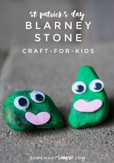 The Blarney Stone is a fun St. Patricks Day craft for kids that everyone is sure to LOVE! They are easy and fun. St Patricks Day Crafts For Kids, Crafts For Kids To Make, Easy Diy Crafts, Easy Crafts, Kids Crafts, March Crafts, St Patrick's Day Crafts, Summer Crafts, Toddler Crafts