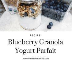 Blueberry Granola Yogurt Parfait Recipe