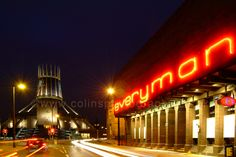 Catholic Cathedral and Everyman Theatre, Hope Street, Liverpool.