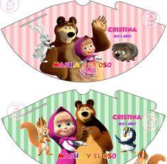 Resultado de imagen para masha y el oso invitaciones