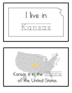 FREE This printable booklet includes the Kansas State symbols, map, flag, etc. This booklet includes ruled lines for your kids to TRACE the names of each symbol...