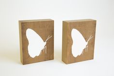 Butterflies for a little girls room painted on solid wood blocks  See more at www.designk.co