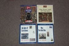 Joy Hakim A History of US 4 book Lot Homeschool War peace all that jazz used