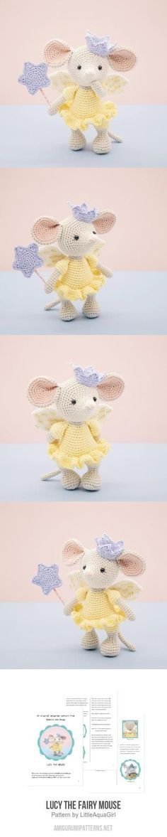 Lucy the Fairy Mouse amigurumi pattern #crochettoys