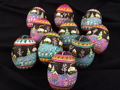 New 'Star Caroler' eggs using some of my PysankyUSA Colorama Dyes. Jim Hollock