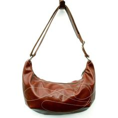 Ale Brown Foxtrot Medium Topstitch Hobo Bag