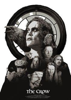 Iconic Movie Posters, Movie Poster Art, Iconic Movies, Sci Fi Movies, Horror Movies, Brandon Lee, Crow Images, Crow Movie, Dramas