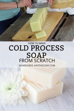 How to Make Cold Process Soap from Scratch - I'm so glad I started making soap! Making cold process soap is actually so easy, and I've follo - Handmade Soap Recipes, Soap Making Recipes, Handmade Soaps, Diy Soaps, Diy Soap Labels, Soap Packaging, Goat Milk Soap, Cold Process Soap, Soap Making Process
