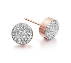 Ava Button Stud Earrings | Monica Vinader