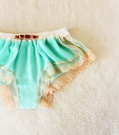 Mint Chiffon Goodnight boxer | Other Fashion | Naomilingerie | Handmade mail order · sale Creema