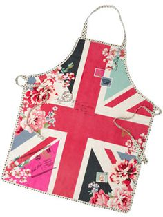 Floral Union Jack Apron...love how its done!#Repin By:Pinterest++ for iPad#