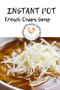 Instant Pot French Onion Soup - Home Pressure Cooking Best Instant Pot Recipe, Instant Pot Dinner Recipes, Pressure Cooking, Pressure Cooker Recipes, Electric Pressure Cooker, French Soup, Pots, Onion Soup Recipes, Soup Appetizers