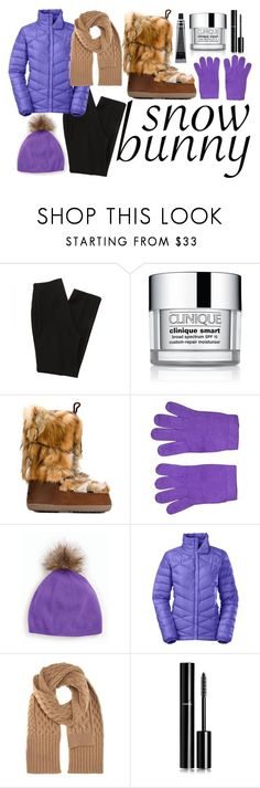 """Let it Snow!"" by machellm ❤ liked on Polyvore featuring Clinique, Dsquared2, Eric Bompard, Talbots, Grown Alchemist, The North Face, Maison Margiela, Chanel and snowbunny"