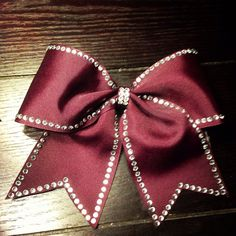 Maroon Traced Cheer Bow (available in other colors)