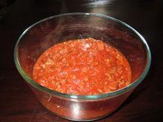 Yeast Free Meat Sauce - olive oil, ground meat, tomato sauce, basil, parsley, oregano, onion powder, garlic powder, sea salt, black pepper - Strict Candida Diet