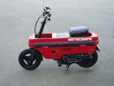 """The Honda Motocompo is a tiny folding scooter sold by Honda 1981-1983.  The Motocompo was introduced as a """"Trunk Bike"""" to fit inside subcompact cars like the Honda Today and the then new Honda City.  #honda #motocompo"""