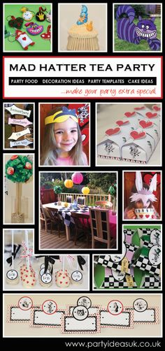 Alice in Wonderland Party ideas #alice in wonderland party #mad hatter tea party