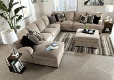 Chenille Sectional Couch With Chaise