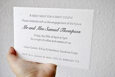 Letterpress wedding invitations custom wedding by FunkyPrintStudio