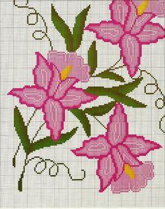 COSTURAS STEPHANY : Patrones de Flores De Punto de Cruz Gratis /Free Cross Stitch Flowers Patterns